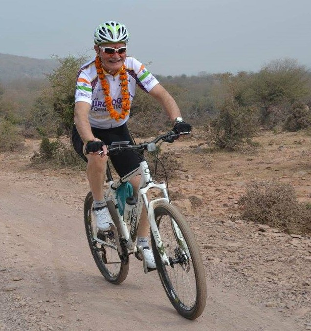 Andrew Etherington cycling in India for TUF Copy